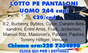 Lotto PE Pantaloni uomo 244 capi